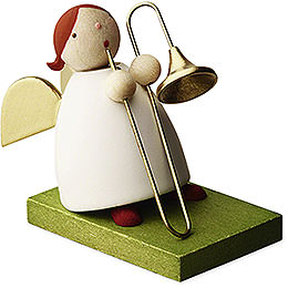 Big Band guardian angel with trombone  -  3,5cm / 1.3inch