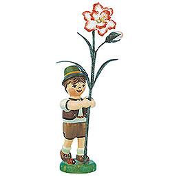 Blumenkind Junge mit Nelke  -  11cm