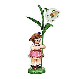 Blumenkind Mädchen mit Märzenbecher  -  11cm