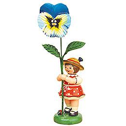 Blumenkind Mädchen mit Stiefmütterchen  -  11cm