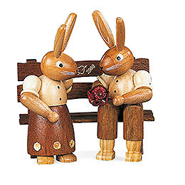 Bunny Couple sitting  -  11cm / 4 inch