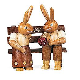Bunny Couple sitting  -  11cm / 4 inch