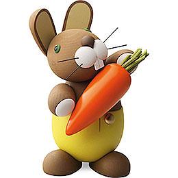 "Bunny ""Hagen"" with carrot  -  16cm / 6.3inch"