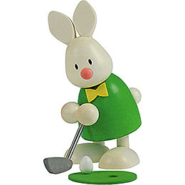 Bunny Max golfing, holing in  -  9cm / 3.5inch