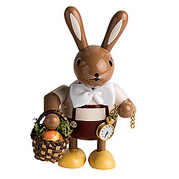 Bunny with Egg - Basket  -  11cm / 4 inch