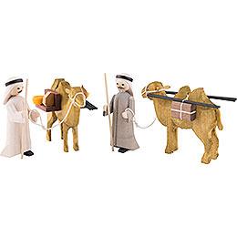 Camel Herders, Set of Four, Glazed  -  7cm / 2.8 inch