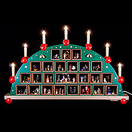 Candle Arch Advent calendar  -  48x76cm / 19x30inch