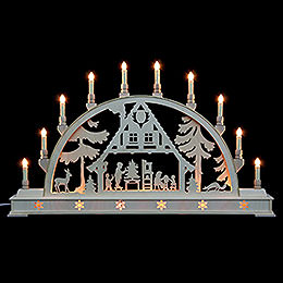 Candle Arch  -  Christmas house with base  -  78cm x 45cm / 31 x 18 inches