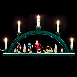 Candle Arch Santa Claus  -  19 x 11 inch  -  48 x 28cm