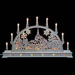 Candle Arch  -  Schneeberg Church with base  -  78cm x 45cm / 31 x 18 inches