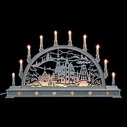 Candle Arch  -  Zwickau with base  -  78cm x 45cm / 31 x 18 inches