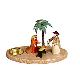 Candle Holder Nativity Scene  -  12cm / 5inch