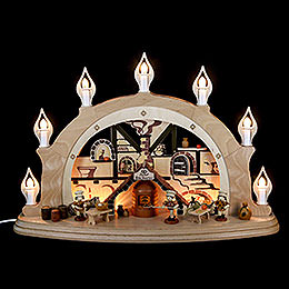 Candle arch Christmas bakery  -  57x38x15cm / 22x15x7 inch