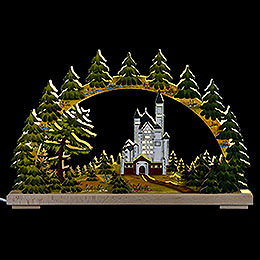 Candle arch New Swantone Castle, summer time  -  43x30cm / 17x12inch