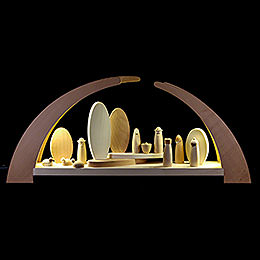 Candle arch nativity  -  62x25cm / 24.5x10inch