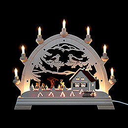 Candle arch round arch with deer  -  40x43cm