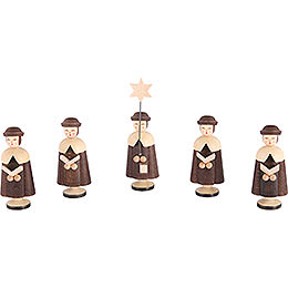 Carolers 5 Figurines  -  6,5cm / 3 inch