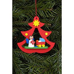 Christbaumschmuck Miniengel im Baum  -  7,2 x 7,1cm