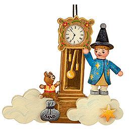 Christbaumschmuck Sandmann/Teddy/Uhr  -  9cm