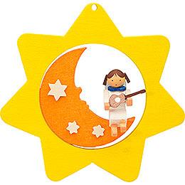 Christbaumschmuck Sternen - Mond - Engel mit Gitarre  -  8cm