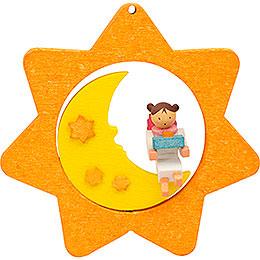 Christbaumschmuck Sternen - Mond - Engel mit Päckchen  -  8cm