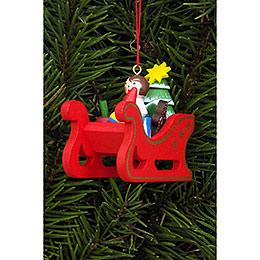Christbaumschmuck Weihnachtsschlitten  -  5,8 x 5,3cm