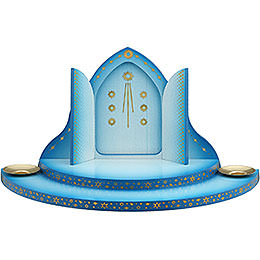 Cloud with heaven's gate 2 - tier blue - white  -  27cm