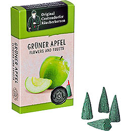 Crottendorfer Räucherkerzen  -  Flowers and Fruits  -  Grüner Apfel