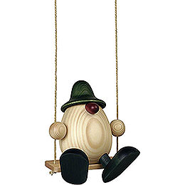 Egghead Father Bruno on swing, green  -  15cm / 5.9inch