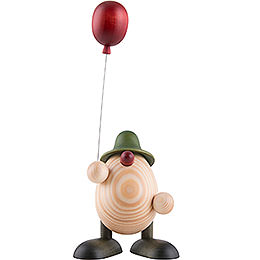 Egghead Otto with Balloon, Green  -  11cm / 4.3 inch