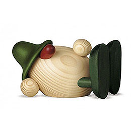 Eierkopf Oskar liegend, grün  -  11cm