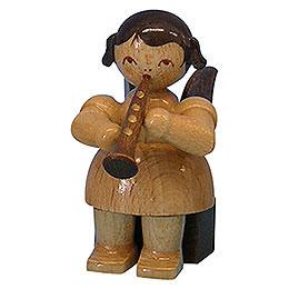 Engel mit Klarinette  -  natur  -  sitzend  -  5cm