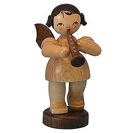 Engel mit Klarinette  -  natur  -  stehend  -  6cm