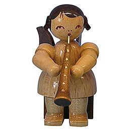 Engel mit Oboe  -  natur  -  sitzend  -  5cm