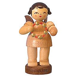 Engel mit Schellenring  -  natur  -  stehend  -  6cm