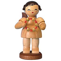 Engel mit Schellenring  -  natur  -  stehend  -  9,5cm