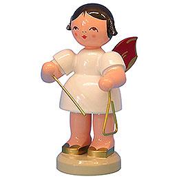 Engel mit Triangel  -  Rote Flügel  -  stehend  -  9,5cm