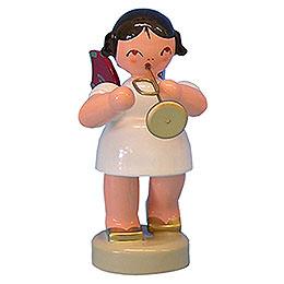 Engel mit Trompete  -  Rote Flügel  -  stehend  -  6cm