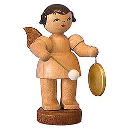 Engel mit kleinem Gong  -  natur  -  stehend  -  6cm
