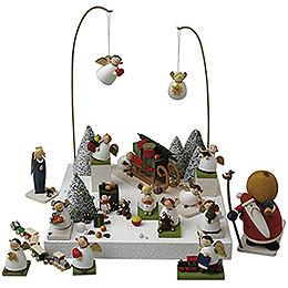 Figurengruppe 'Im Schnee'  -  3,5cm