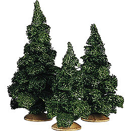 Fir tree without trunk, set of three  -  13cm / 5.1inch
