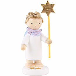 Flax haired angel with star 2015  -  5cm