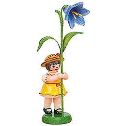 Flower Kids Girl with Bluebell  -  11cm / 4,3 inch