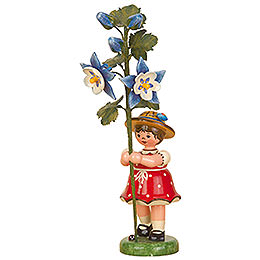 Flower child girl with Columbine  -  17cm / 7inch