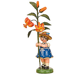 Flower child girl with Lily  -  17cm / 7inch
