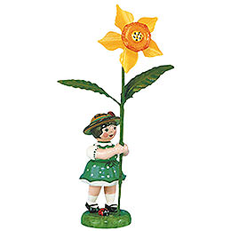 Flower girl with Daffodil  -  11cm / 4,3inch
