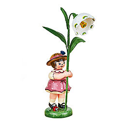 Flower girl with Daffodils of march  -  11cm / 4,3inch
