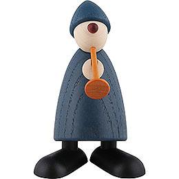Gratulant Karlchen mit Flöte, blau  -  9cm