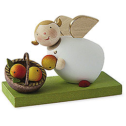 Guardian angel with apple basket  -  3,5cm / 1.3inch
