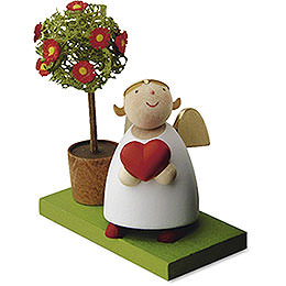 Guardian angel with heart and little tree  -  3,5cm / 1.3inch